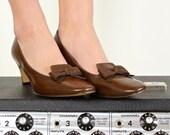 1950s Shoes / 50s Bow Pumps Size 8 - 8.5