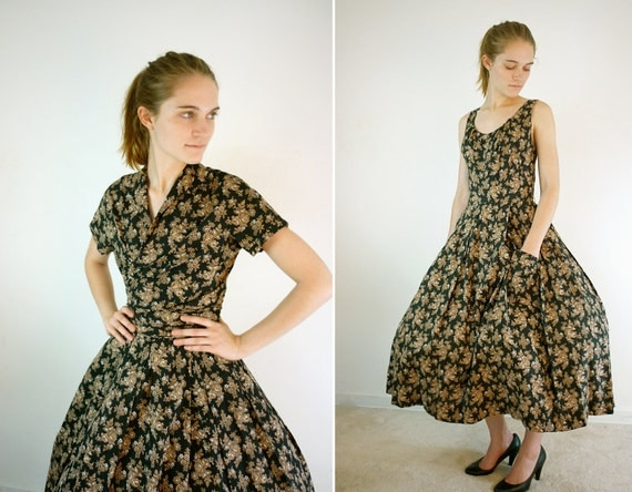 1950s Dress - 50s Dress - Carolyn Schnurer Party Dress
