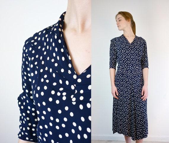 1940s Dress / Vintage 1940s Dress