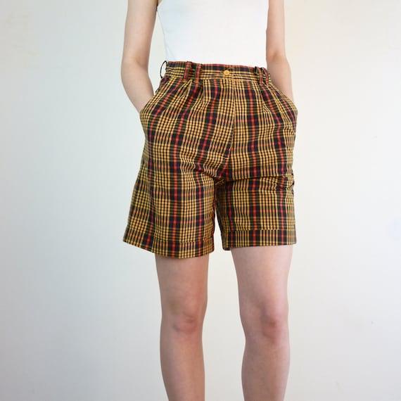 High Waisted Shorts • 1990s Shorts • Plaid High Waisted Shorts • 90s Shorts • Plaid Shorts • Cotton Shorts • XS High Waisted Shorts