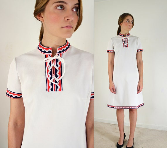 Election Day Dress - 1960s Mod Dress