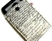 Kindle Case, Kindle Cover, Kindle Sleeve, Ereader case, Padded - Old Script Custom Made