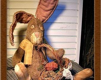 Socks the Bunny Primitive Pattern