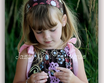Adjustable Sewn Toggle Fabric Headband Fits Toddler to Adult You Choose Fabric
