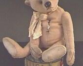 "PDF Pattern to Make 18"" Well Loved Teddy Bear Named Tetley By Kim Endlich Digital File Immediate Download"