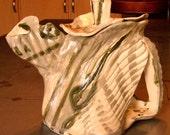 teapot ceramics and pottery tea pots handmade ceramic sculpture white grey green contemporary and funky teapot