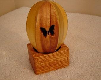 Wood Decorative Egg  Earthly  Elements OOAK Original design