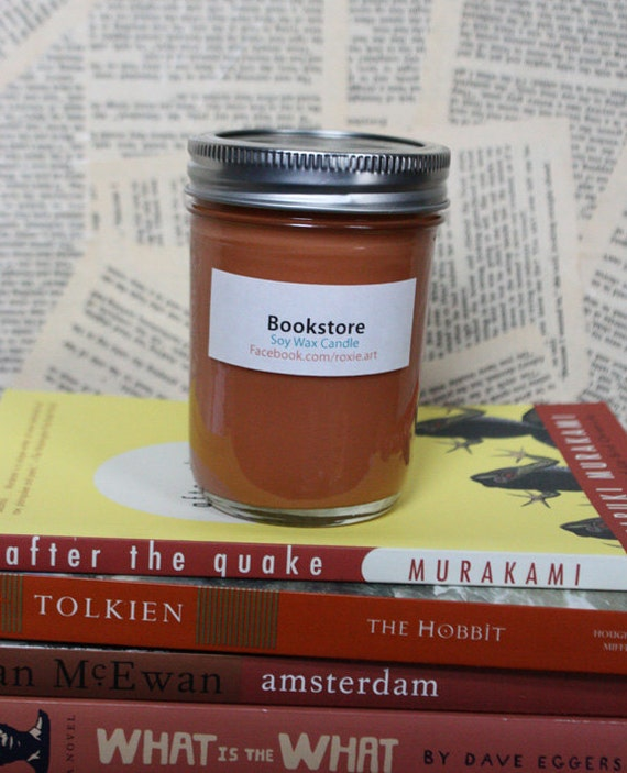 Bookstore Scented Soy Wax Candle - 8oz jar
