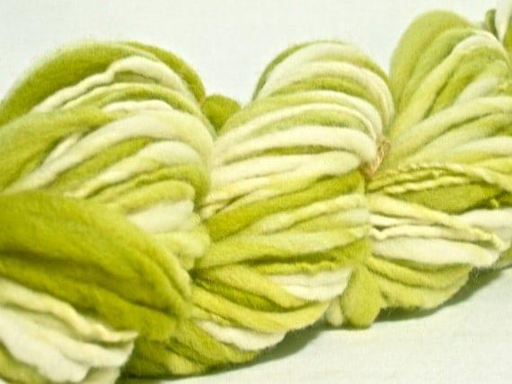 Handspun, Hand-Dyed Merino Yarn - 64 yards Aran-Bulky Weight