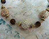 Dainty Carved Flower Necklace