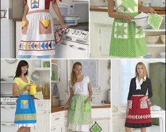 Apron Sewing Pattern Simplicity 2980 Retro Quilted Aprons CUTE