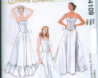 Sewing Pattern Corset Tops and Petticoats McCalls 4109 4-6-8-10 UNCUT