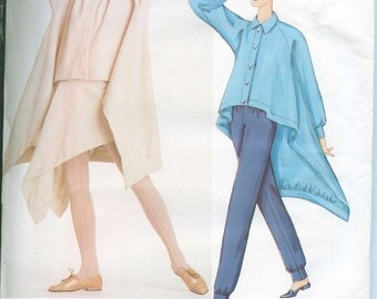 OOP Vogue 2572 Issey Miyake Sewing Pattern Top Skirt Pants from 2001 Size 14-16-18 UNCUT
