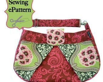 2- PDF Sewing Pattern, Sew Spoiled Ladybug Diaper Bag and Crappy Caddy