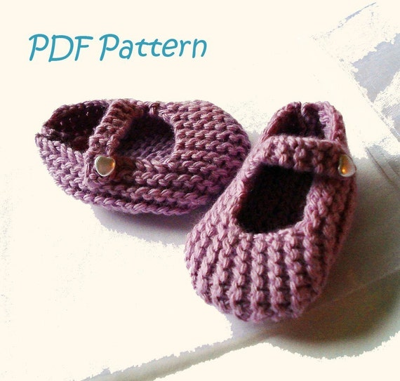 Knitting Pattern For Mary Jane Baby Shoes 3 6 Months Pdf