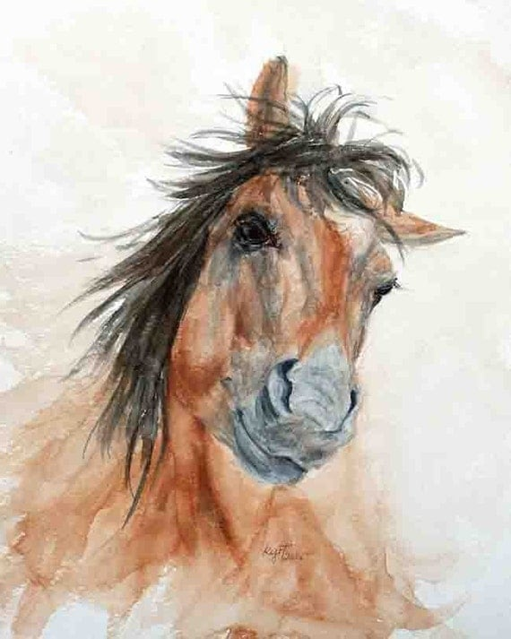 Playtime - fun horse artwork by Kathleen Roeth