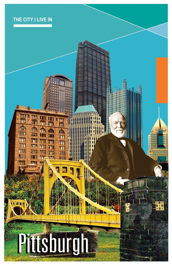 The City I Live In: Pittsburgh, PA 11x17 Poster