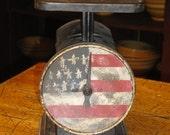 Handpainted Americana Vintage Kitchen Scale
