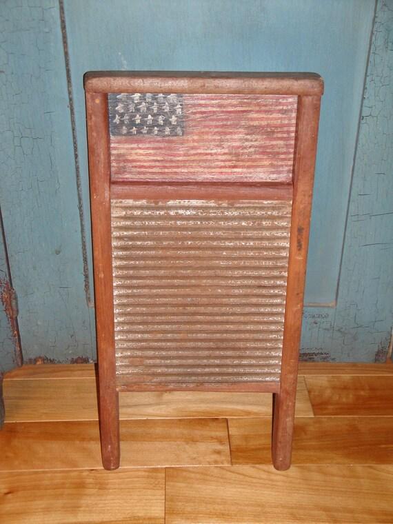 Americana Washboard Handpainted