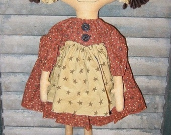 Kassie EPATTERN...primitive country cloth doll craft digital download sewing pattern...PDF...1.99