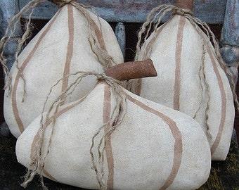 White Pumpkins EPATTERN-primitive halloween fall thanksgiving cloth craft digital download sewing pattern - PDF-1.99