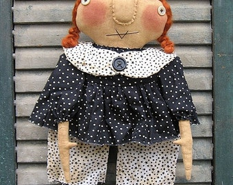 Ziggie Witch EPATTERN - primitive country halloween cloth doll craft digital download sewing pattern - PDF - 1.99