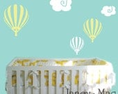 Hot Air Balloon Wall Decal with Clouds - Whimsical Kid's Bedroom Nursery - Balloon and Clouds Vinyl Wall Art Sticker - CN102