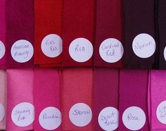 Color Chart for WOOL FELT Blends