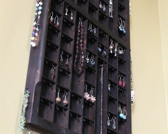 Vertical Printers Drawer Jewelry Display