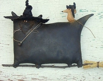 Mousie's Glorious Ride, A Primitive Folk Art Pattern From Raven's Haven
