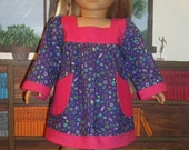 1970's Babydoll dress with contrast trim and pockets