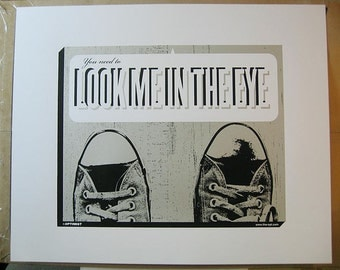 You Need To Look Me In The Eye art print (eye contact, autism, Asperger's syndrome, introvert, introversion, shy, shyness, connection)