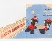 """Vintage Birthday Card """"Its The Personal Touch That Counts"""" Paddle/Spank"""