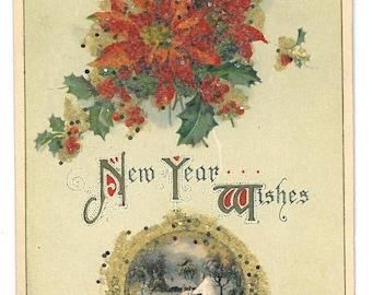 Vintage 1913 John Winsch New Year Wishes Postcard
