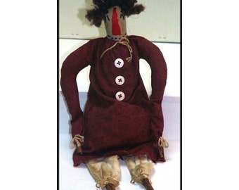 Lettice Handmade Primitive Raggedy Ann Doll