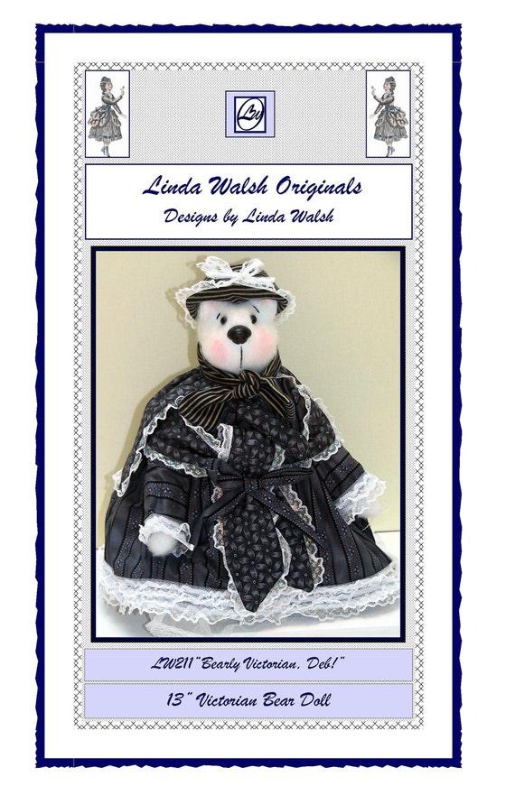 Bearly Victorian Deb Bear Animal Art Doll E-Pattern