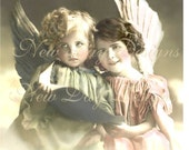 Victorian Photo Scan - Adorable Angels, Instant Digital Download DP011