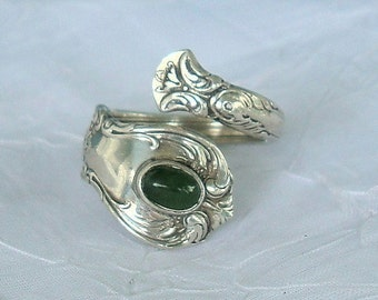 Vintage Jade Towle Sterling Spoon Ring Old Master dmfsparkles