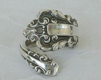 Vintage MEDICI  Vintage Sterling Gorham Spoon Ring dmfsparkles