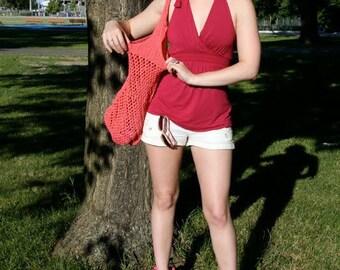 pdf Knitting Pattern for Shopping Bag ... Tote Bag ... Beach Bag