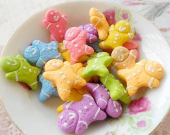 6pcs Gingerbread Cabochon - Assorted Colors
