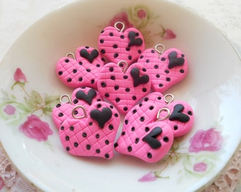 Sweethearts Collection Charms 20mm - Hearty Heart - 5pcs