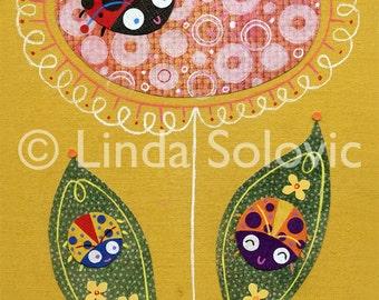 Luck Be A Lady Bug Print 8.5 x 11