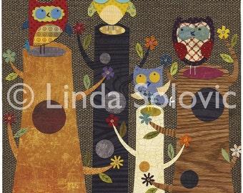 King of the Stumps Owl Print 8.5 x 11