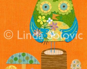 Doris the Owl Print 8.5 x 11