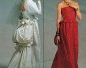 Vintage Vogue 1801 Bellville Sassoon Wedding Dress Red Carpet Bustle Sewing Pattern Size 8 Uncut