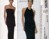 McCalls 9295 Laundry by Shelli Segal Designer Dress Strapless Halter Evening Red Carpet Sewing Pattern Sizes 4 6 8 Uncut