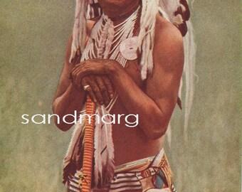 1929 Native American Indian Blackfoot Chief Two Guns White Calf for framing