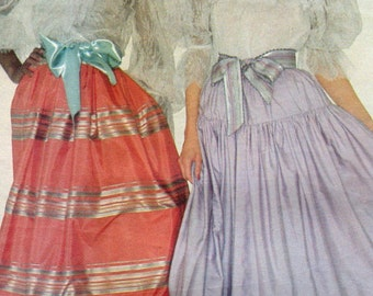 Vogue 2806 Oscar de la Renta Evening Formal  Bridal Red Carpet Skirt Sewing Pattern Size 10 Uncut