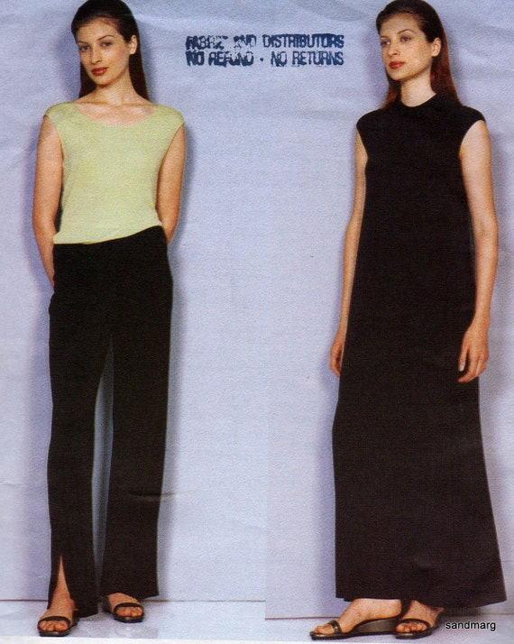 Vogue 2253 American Designer Calvin Klein A Line  Dress Top and Pants Sewing Pattern Sizes 14 16 18